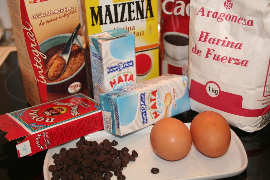 Muffins de Chocolate (Ingredientes)