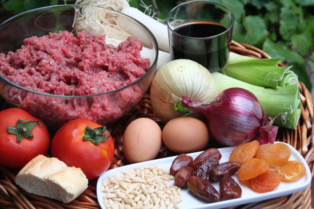Ingredientes principales del Pastel de Carne