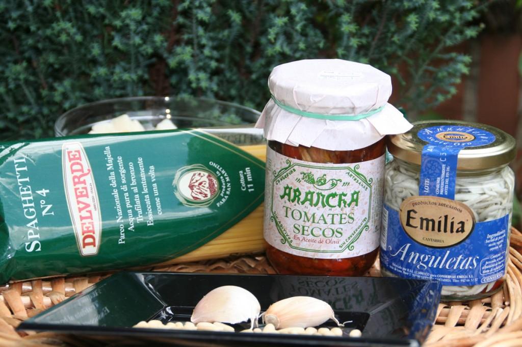 Ingredientes principales de la receta de Spaguetti