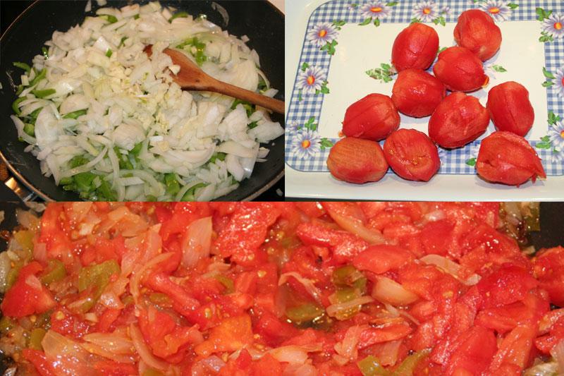 la salsa casera de tomate