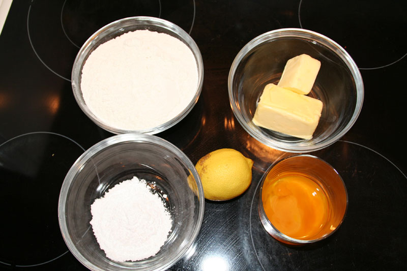 Ingredientes de la masa quebrada Dulce