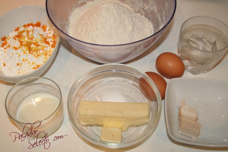 Ingredientes de la masa principal