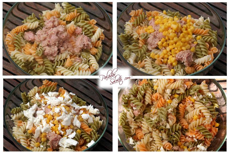 Añadir ingredientes, mezclar y comer !!
