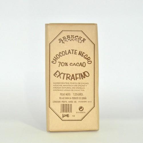 Chocolate Negro Puro 70% Cacao Arancha, 125 gr.