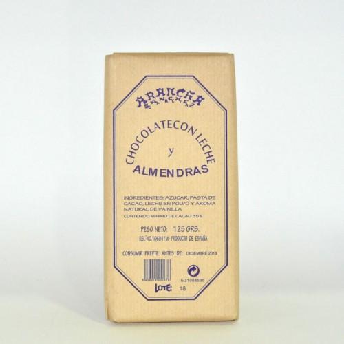 Chocolate Negro con Almendras Arancha, 125 gr.