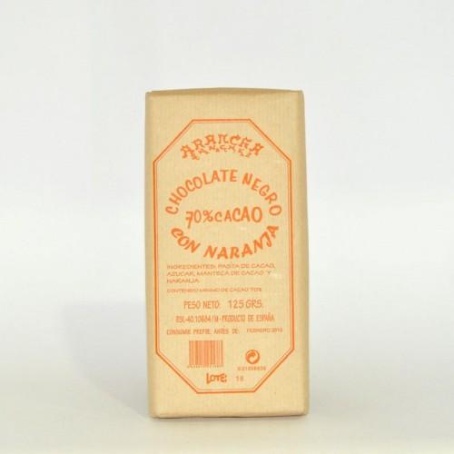 Chocolate Negro con Naranja Arancha, 125 gr.
