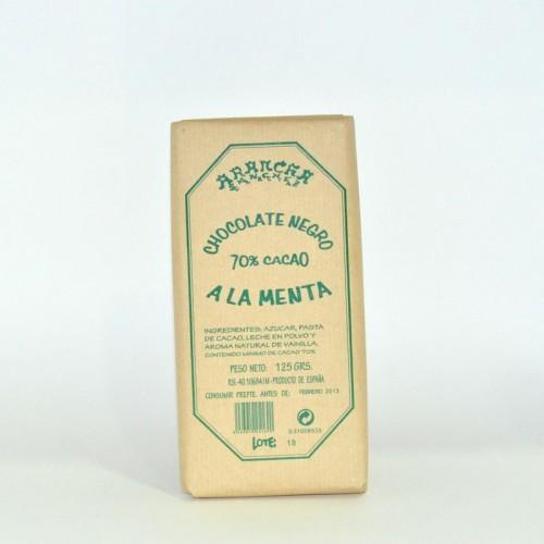 Chocolate Negro a la Menta Arancha, 125 gr.