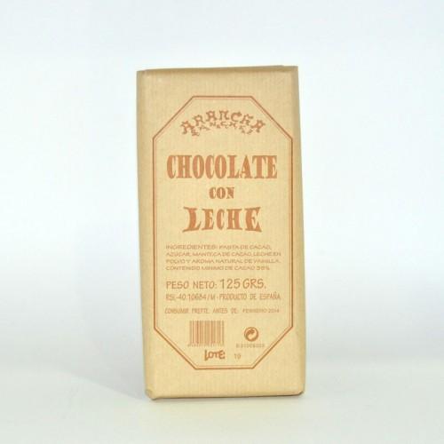 Chocolate con Leche 35% Cacao Arancha, 125 gr.