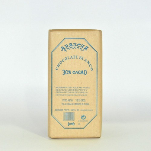 Chocolate Blanco Arancha, 125 gr.