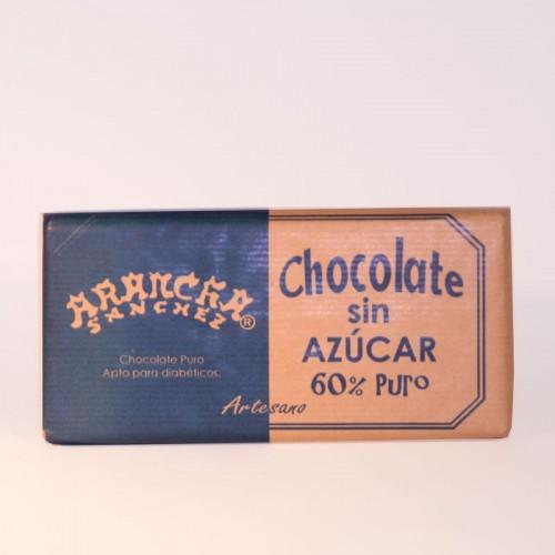 Chocolate sin Azúcar 60% puro Arancha, 125 gr.