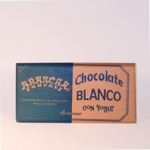 Chocolate blanco con yogur Arancha, 125 gr.