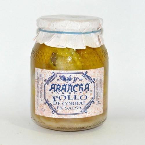 Pollo de Corral en Salsa Arancha, 680 gr.