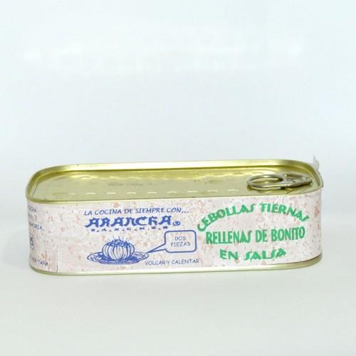 Cebollitas rellenas de Bonito Arancha, 400 gr.