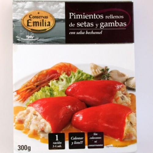 Pimientos rellenos de setas y gambas Emilia, 300 gr