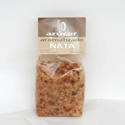 Azúcar aromatizado con Nata , 250 gr.