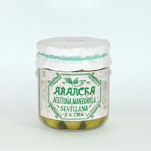 Aceitunas Manzanilla Sevillana Arancha, 200 grs.