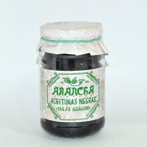 Aceituna Negra de Aragón Natural Arancha, 220 grs.