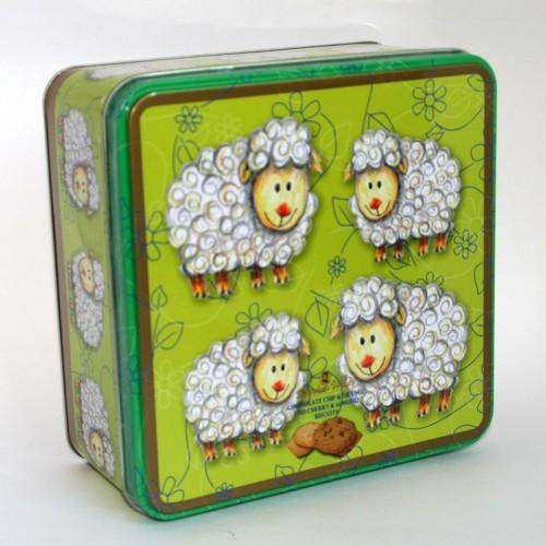 Galletas Caja -Ovejitas- Chocolate/naranja y Cereza/Almendra , 300 gr