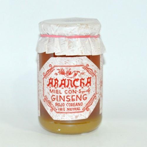 Miel con 5 gr. de Ginseng Rojo Coreano Arancha, 500 gr.