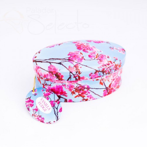 caja caramelos floral azul