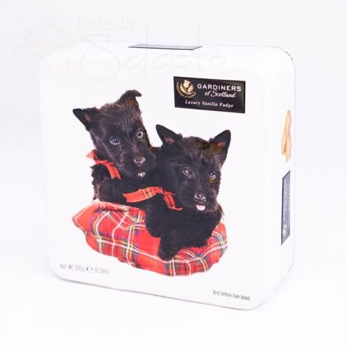 caja galletas perros negros